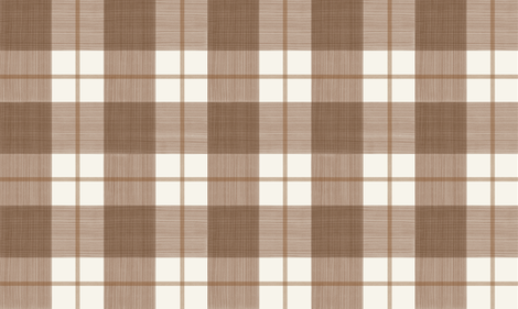 Double Buffalo Plaid in Browns on Cream fabric by danika_herrick on Spoonflower - custom fabric