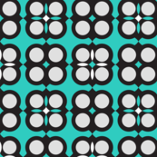 Circle elements pattern neon teal