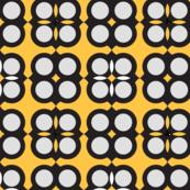 Circle elements pattern yellow