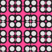 Circle elements pattern neon pink