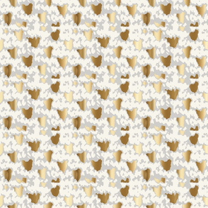 hygge knit camo gold cream gray fair isle