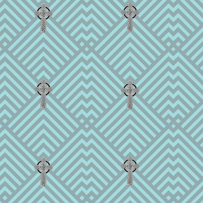 Teal and Gray Celtic Cross