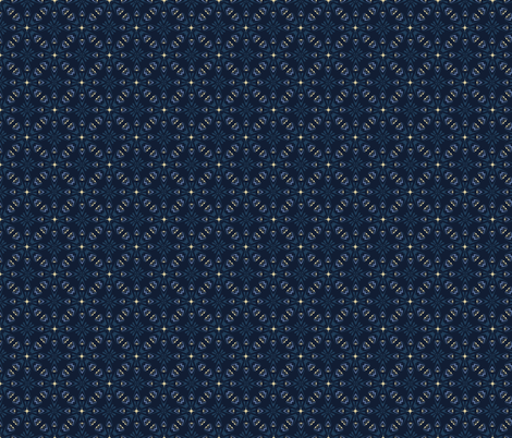 Traditional Indigo Blue Japanese Quilt Grid Ornament fabric by limolida on Spoonflower - custom fabric