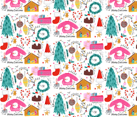 Meaning of christmas fabric by how-store on Spoonflower - custom fabric