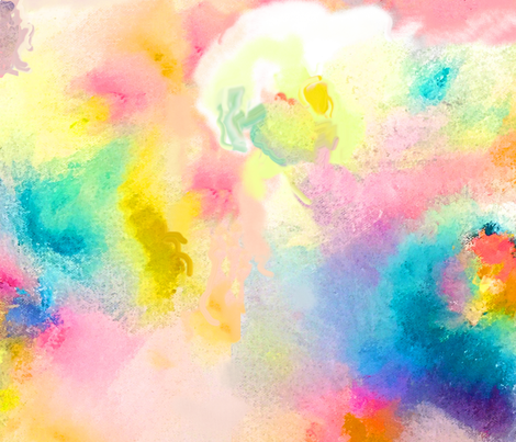 Neon Clouds fabric by theartwerks on Spoonflower - custom fabric