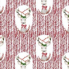 "4"" Fancy Deer Holiday Red"