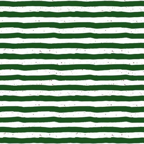"""8"""" Green Stripes Red Dots"""