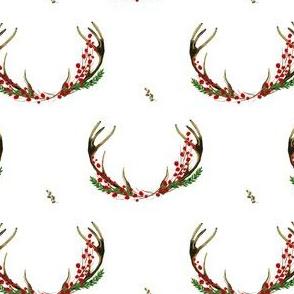 """4"""" Holy Deer Antlers White"""