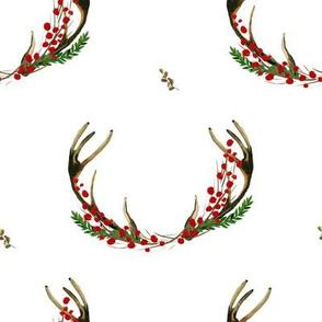 """8"""" Holy Deer Antlers White"""