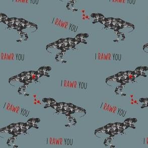 """5"""" I Love You in Dinosaur // Juniper"""