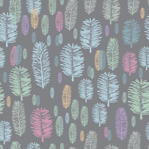 Foggy Forest-Virgin Forest illustration seamless Repeat Pattern Background