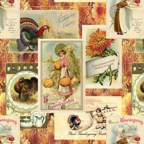 Victorian Postcards for Thanksgiving