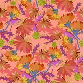 Tumbled Marigolds Pink