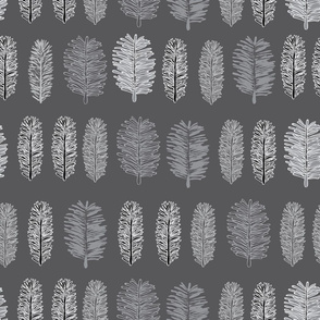Grey Forest-Virgin Forest illustration seamless Repeat Pattern Background