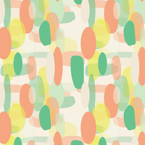 oval shapes on creme background