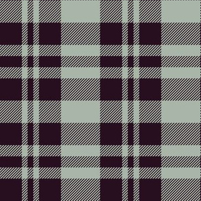 Hygge Christmas plaid pattern // green and bordeaux