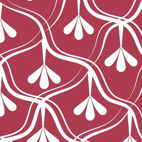 Decorative Christmas pattern // normal scale // white and red
