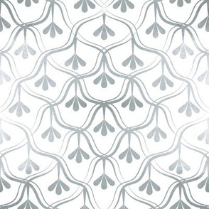 Decorative Christmas pattern // small scale // white and silver