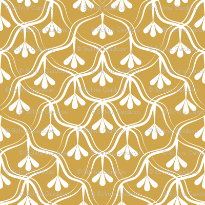 Decorative Christmas pattern // normal scale // white and yellow