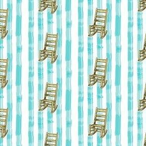 Rocking Chair Aqua Stripe | Retro Festive