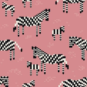 Pink Knitted Zebra