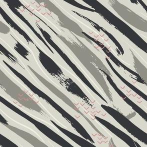 Modern diagonal zebra skin texture