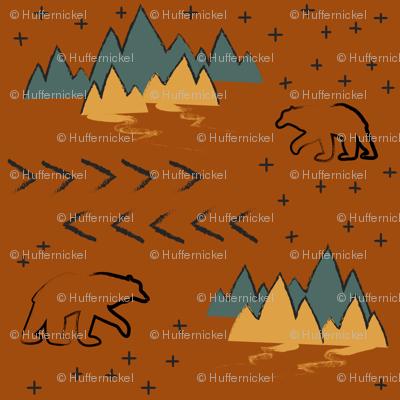 Terracotta Bears with Stars