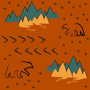 Terracotta Bears with Stars