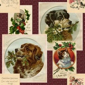 Victorian Pet Postcards for Christmas