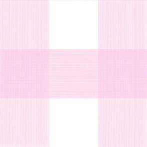 """Pale Pink 6""""  Buffalo Plaid"""