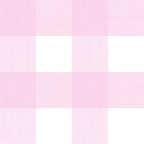 """Pale Pink 3"""" Buffalo Plaid"""