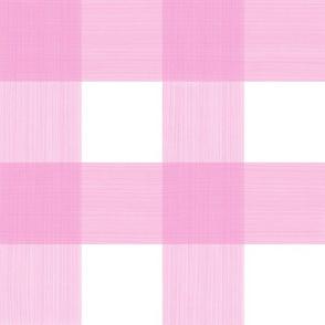 """Pink 3"""" Buffalo Plaid"""