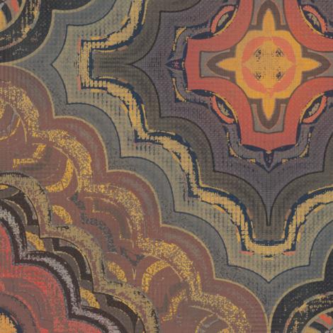 Persia Mandalada (Chalkworks) fabric by david_kent_collections on Spoonflower - custom fabric
