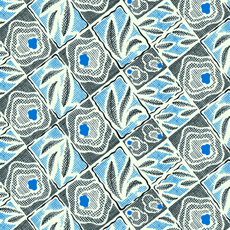 Abstraction Florale 1b fabric by muhlenkott on Spoonflower - custom fabric