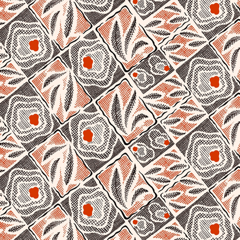 Abstraction Florale 1c fabric by muhlenkott on Spoonflower - custom fabric