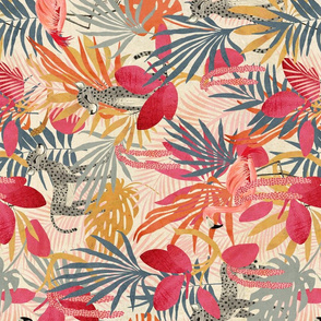 tropical  tutti fruity Jungle  {rotated}