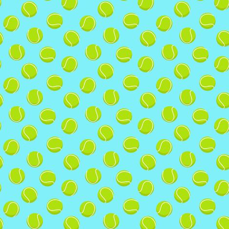 (small scale) tennis ball on light blue C18BS fabric by littlearrowdesign on Spoonflower - custom fabric