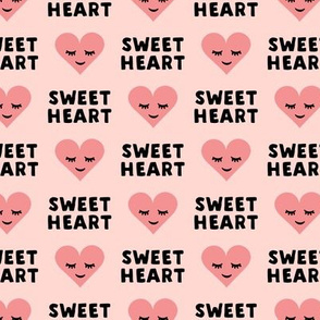 sweet heart - valentines- pink