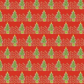 Classic Christmas Trees - minature
