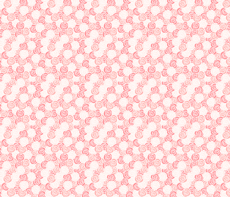 simple blush roses fabric by saint_anne on Spoonflower - custom fabric