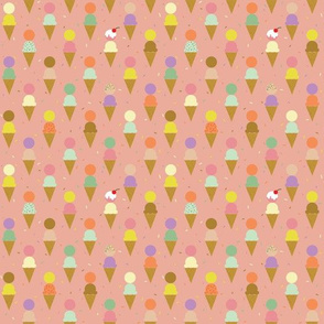 Pink Ice Cream with Sprinkles