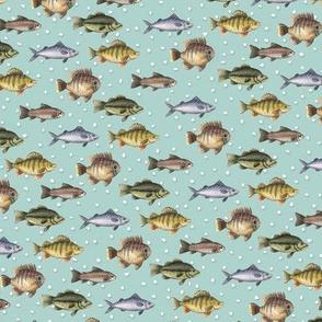 Watercolor Fish Pattern by Robayre