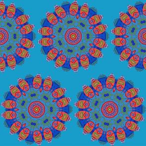 Native American Shield Mandala Neon