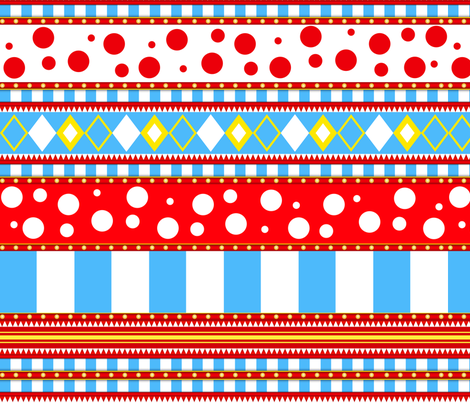 Crazy Circus Carnival  XLG fabric by sssowers on Spoonflower - custom fabric