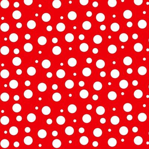 White Polka Dots on Red - SM