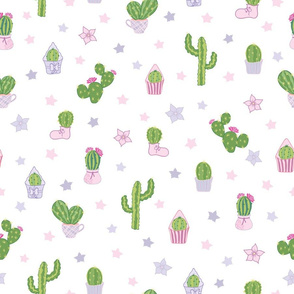 Colorful Cacti Tea Party Pattern