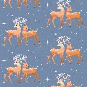 Holiday Reindeer / watercolor / christmas