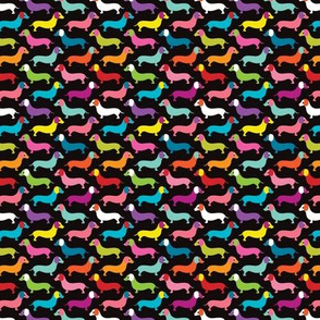 Retro dogs dachshund illustration pattern SMALL