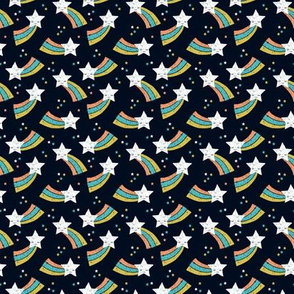 Shooting star and rainbow sky kawaii japanese style stars illustration kids gender neutral XS