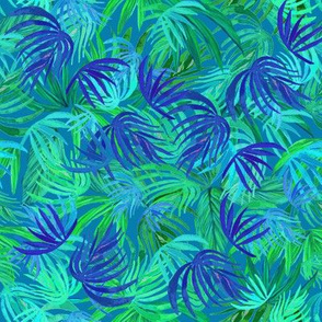 Palm leaf tropical vacation, watercolor neon